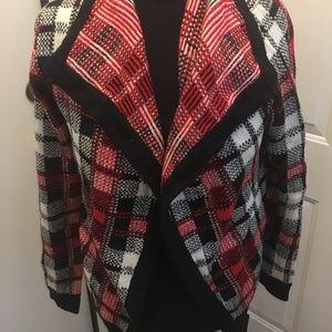 NWT Sweet Rain Modcloth Plaid Cardigan Sweater - L